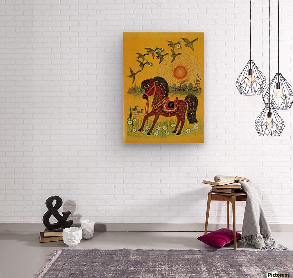 Vasnetsov horse  Wood print