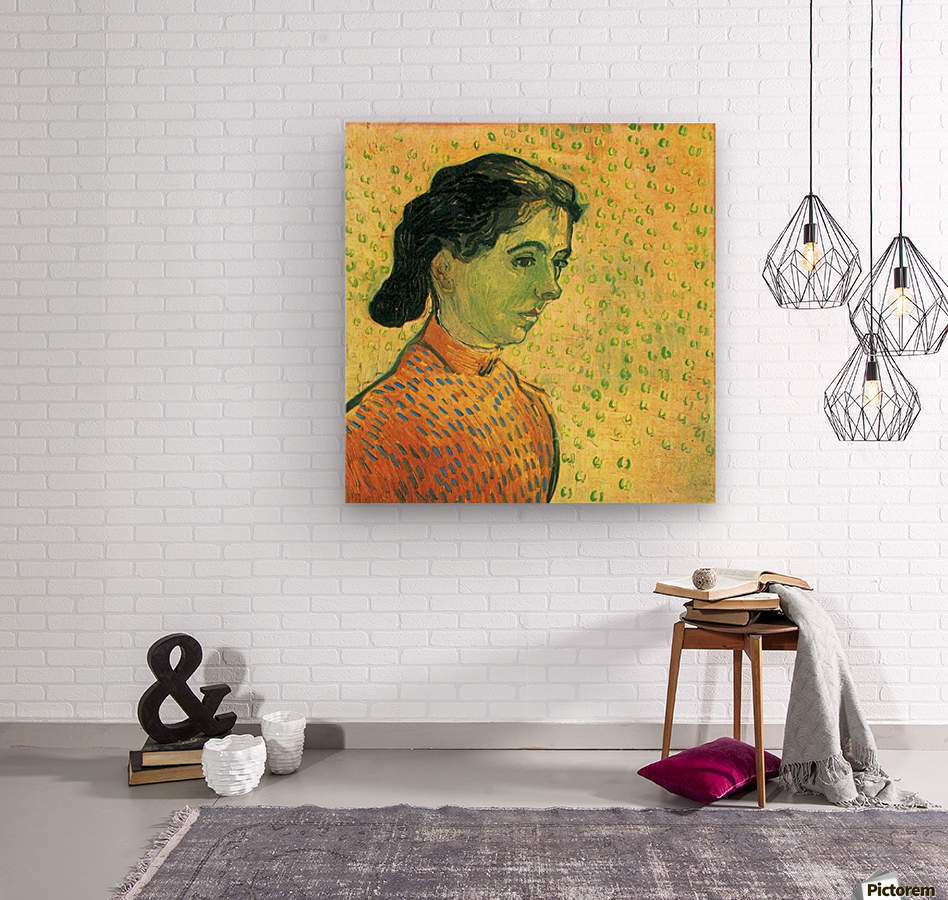 Portrait of a girl by Van Gogh  Wood print