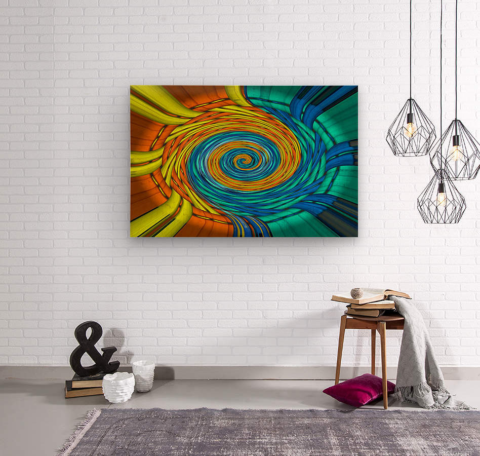 Magic Swirl  Wood print
