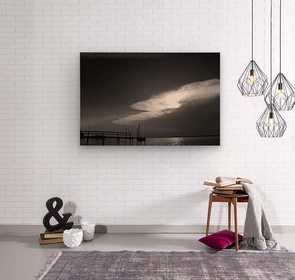 BW Stunning CLoud Sunset  Wood print