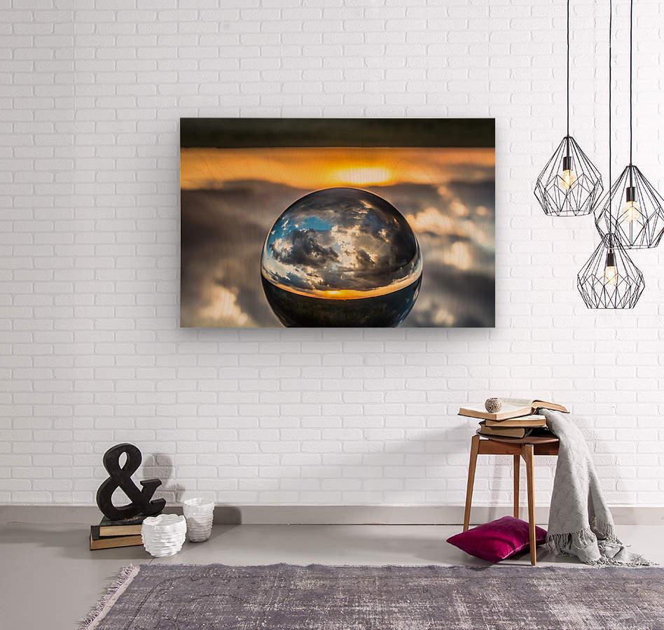 Lens Ball7  Wood print