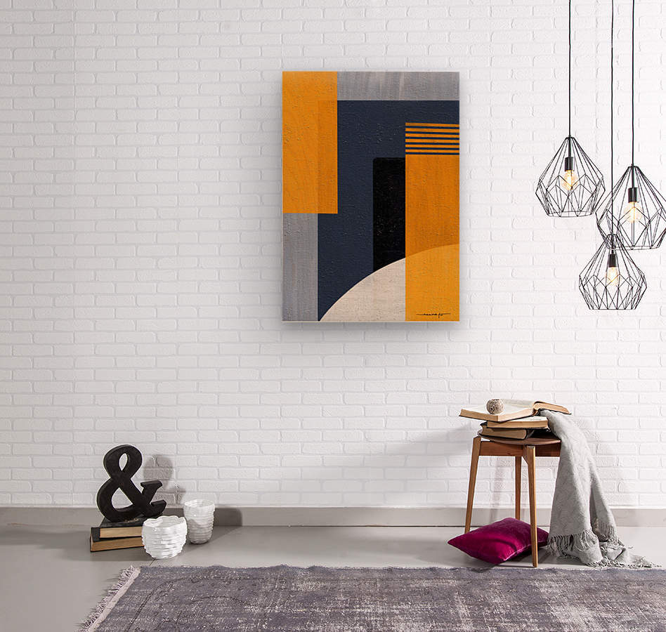 Abstract Geometric Space 1  Wood print