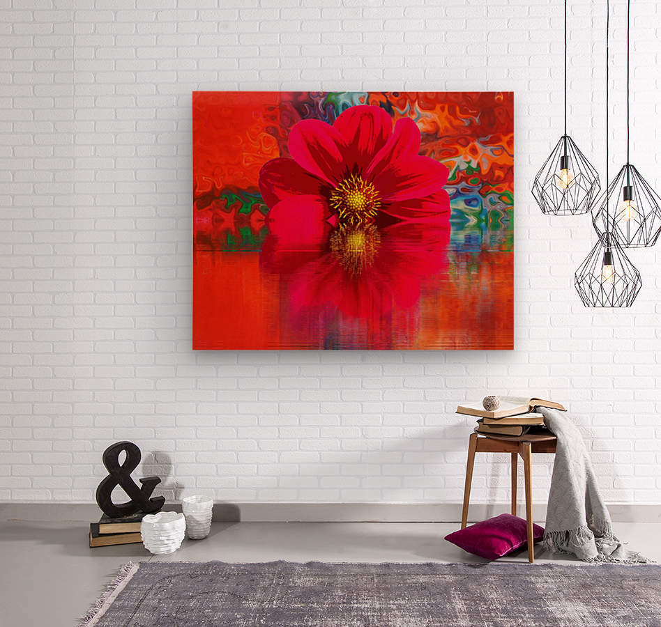 Beautiful colourful flower blossom flower background design floral home decor decoration   Wood print