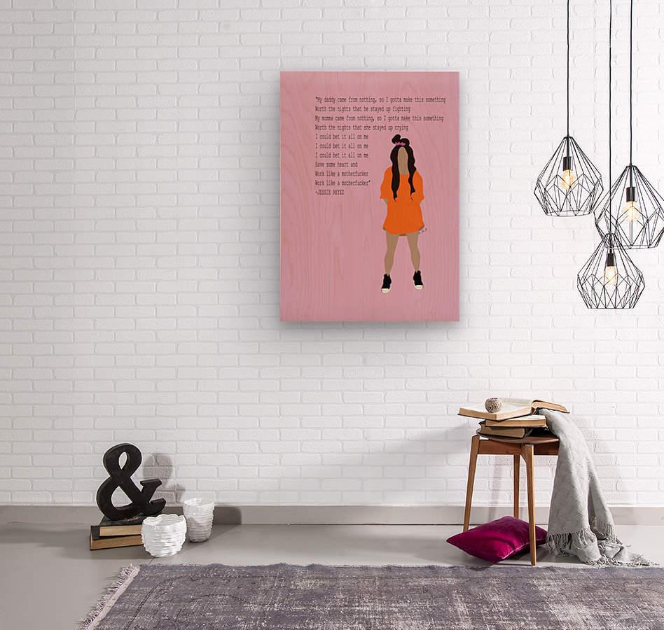 Jessie Reyez  Wood print