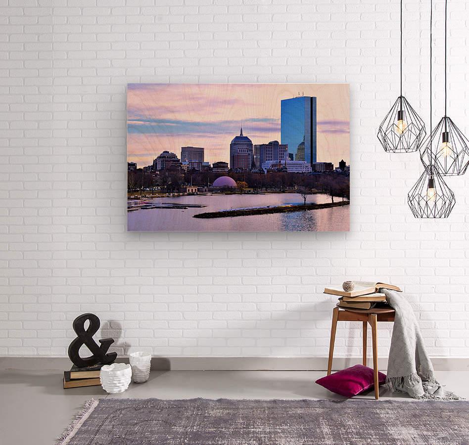 12.5.18 Skyline Boston  Wood print