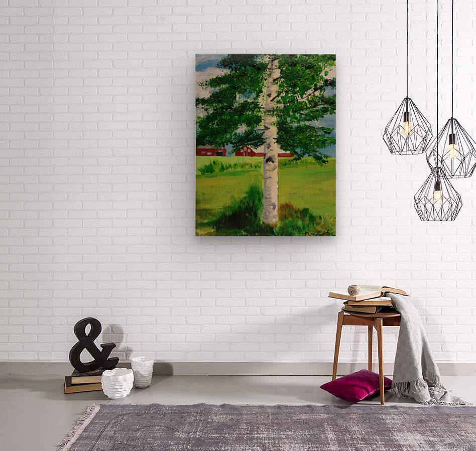 Kuopio Farmhouse  Wood print