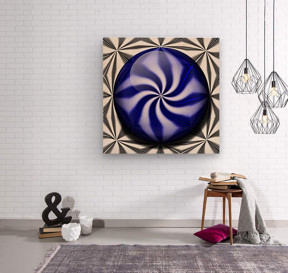Twisted Mint  Wood print