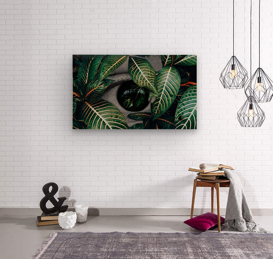 Tropical Reflection  Wood print