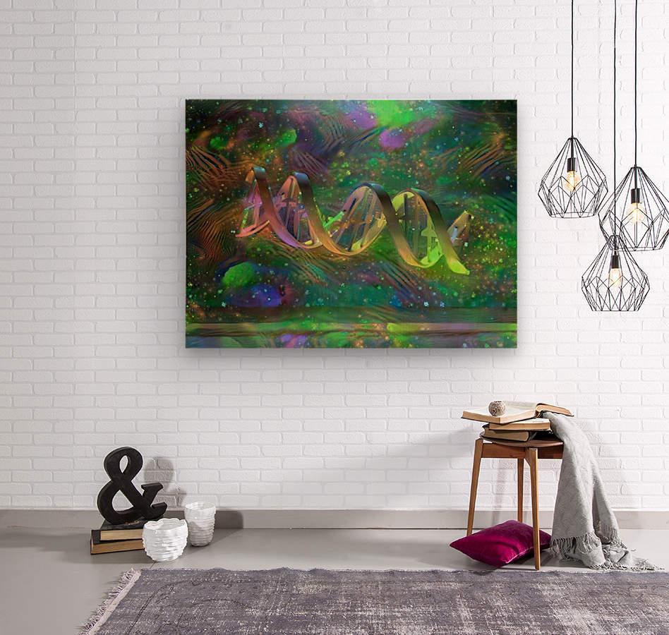 DNA Strand Artwork  Wood print