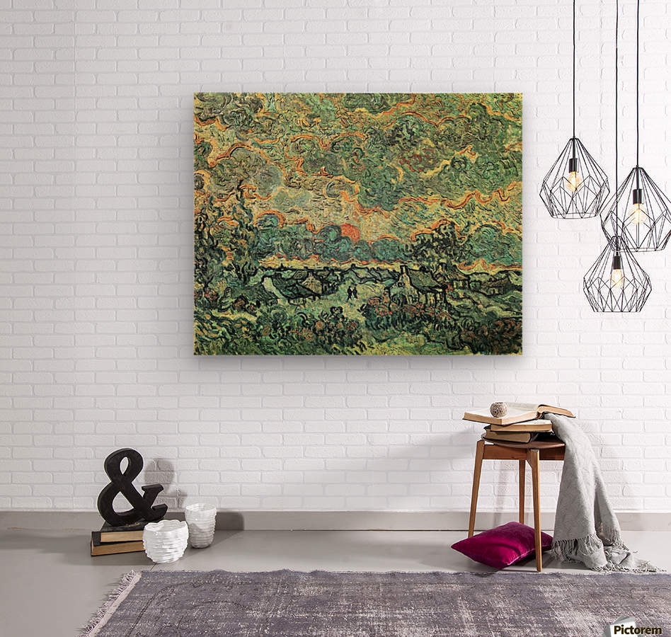 Remembering the north by Van Gogh  Wood print