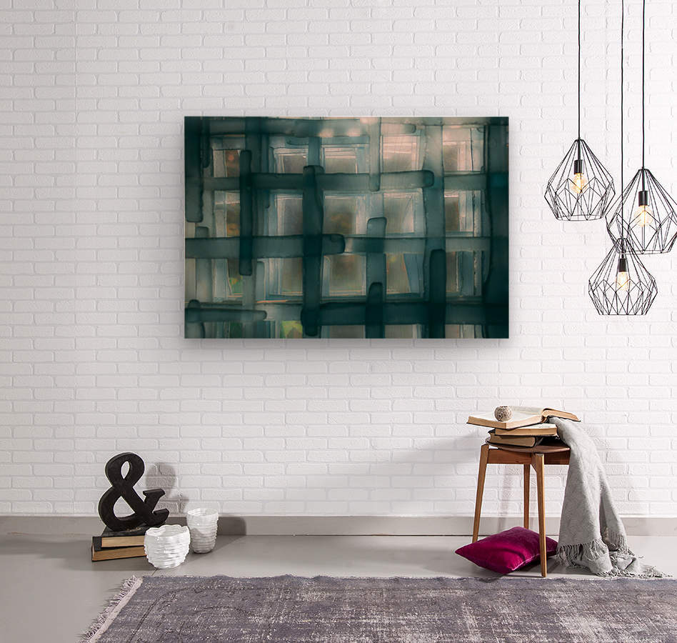 Glass lines 1 triptych  Wood print