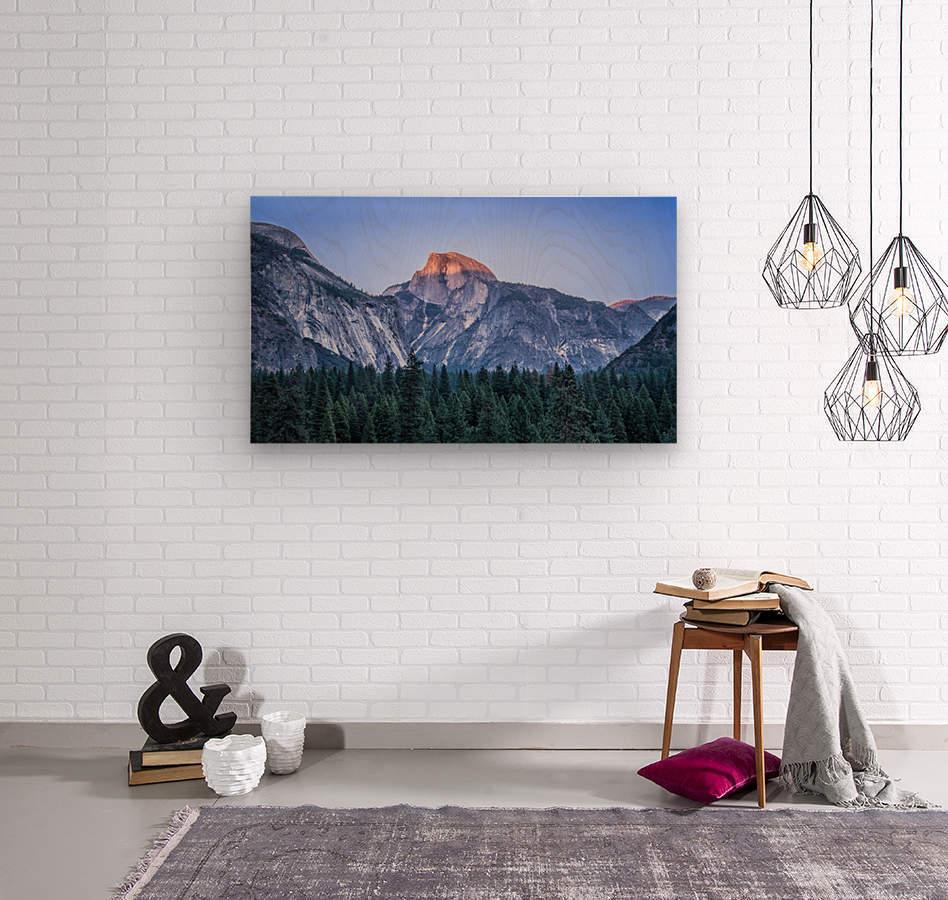 Half Dome Sunset Yosemite National Park  Wood print