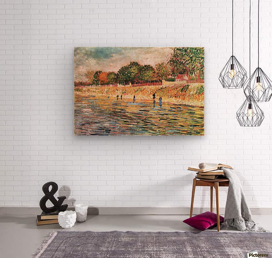 River bank by Van Gogh  Wood print