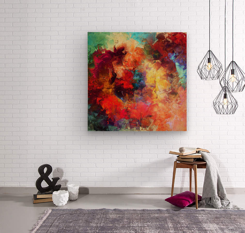 Whirling of Roses  Wood print
