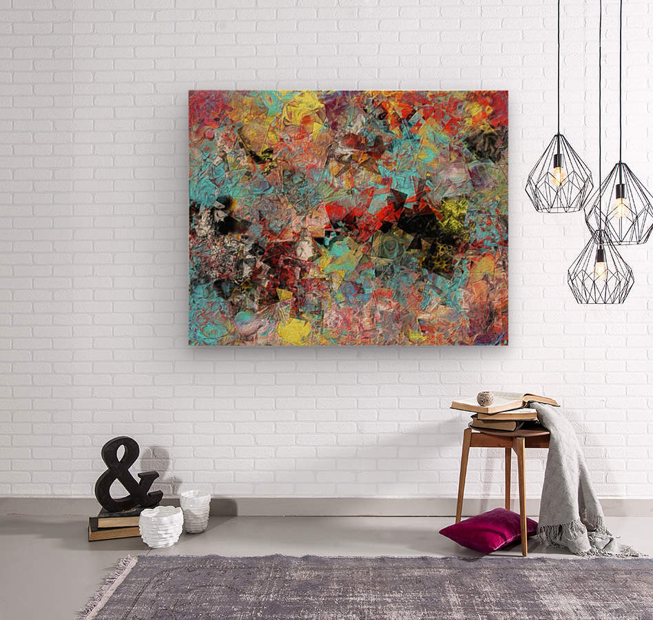 The Red Queens Waltz  Wood print