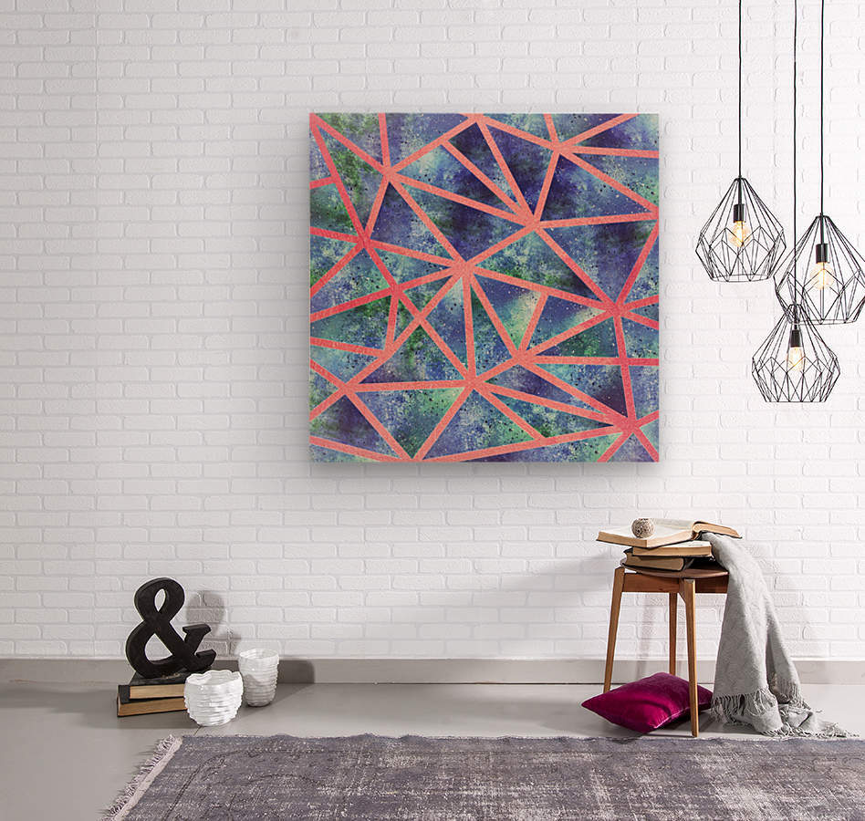 Geometric XXXIII  Wood print