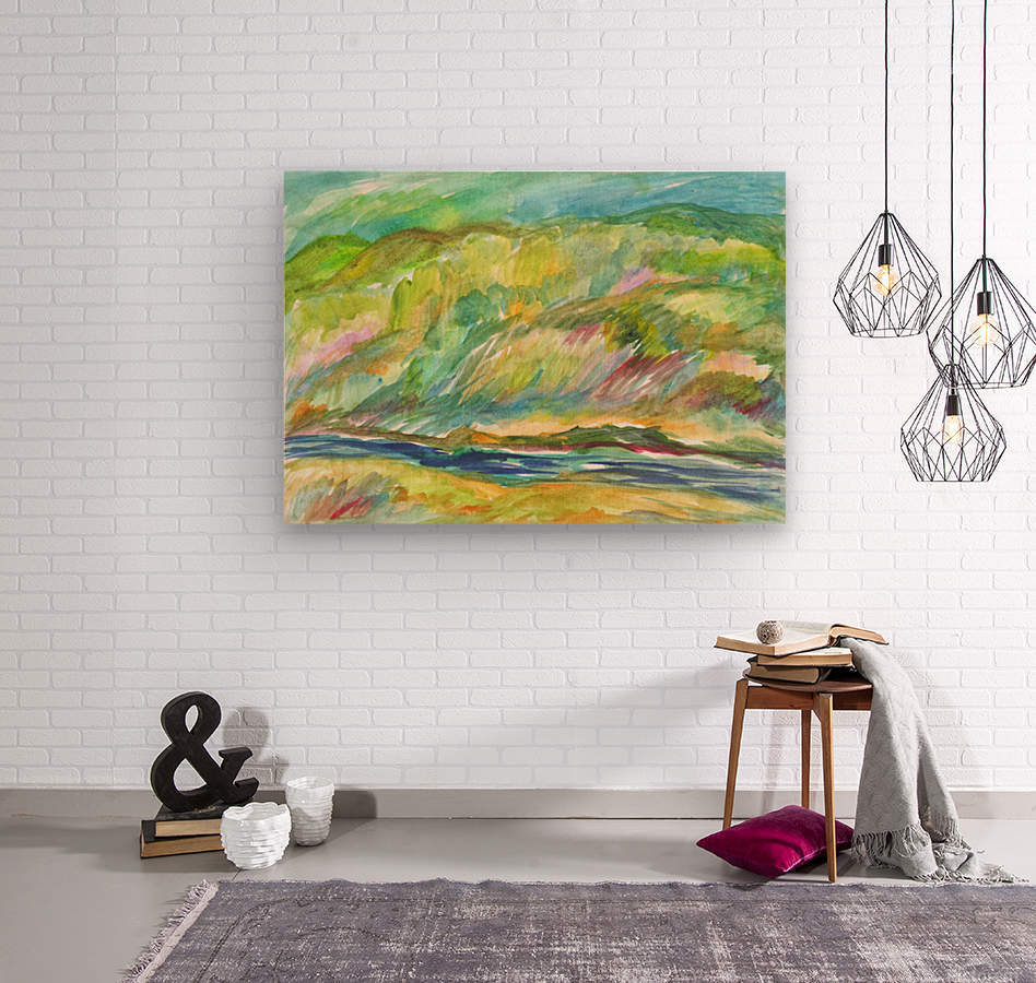 Spring Grove by the River  Wood print