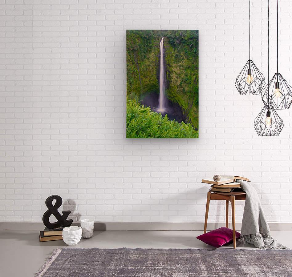 Tropical Falls - Hawaii Vertical  Wood print