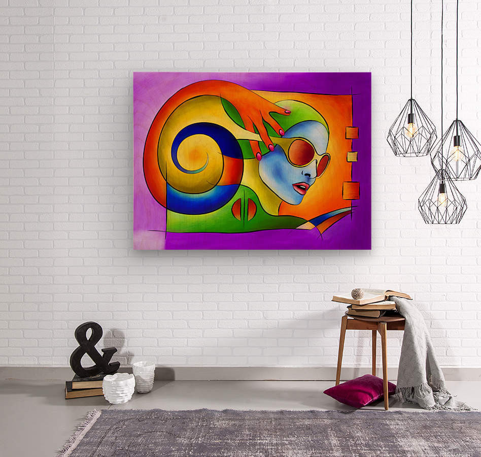 Fenimeussa - blue spiral beauty  Wood print
