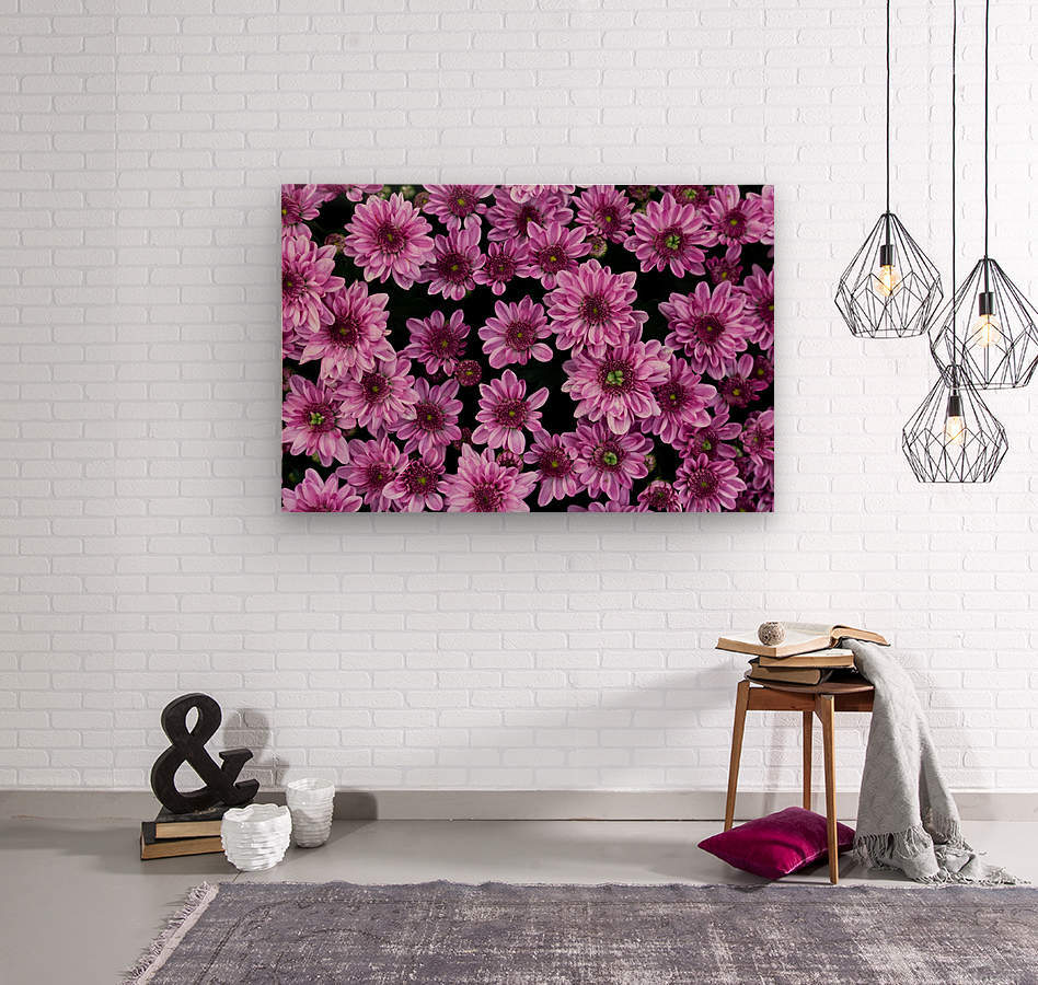 Purple flowre  Wood print