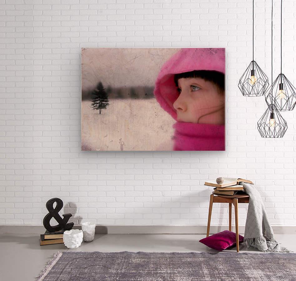 Winter pink  Wood print
