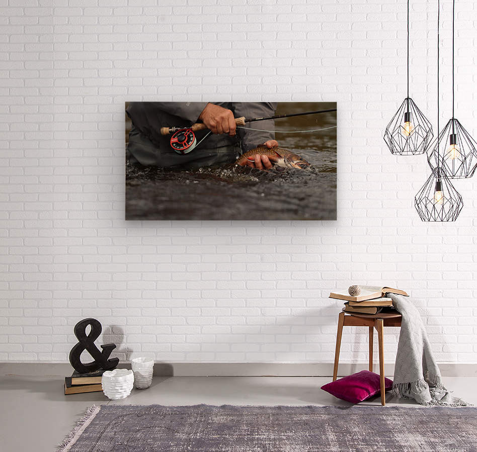Brookie  Wood print