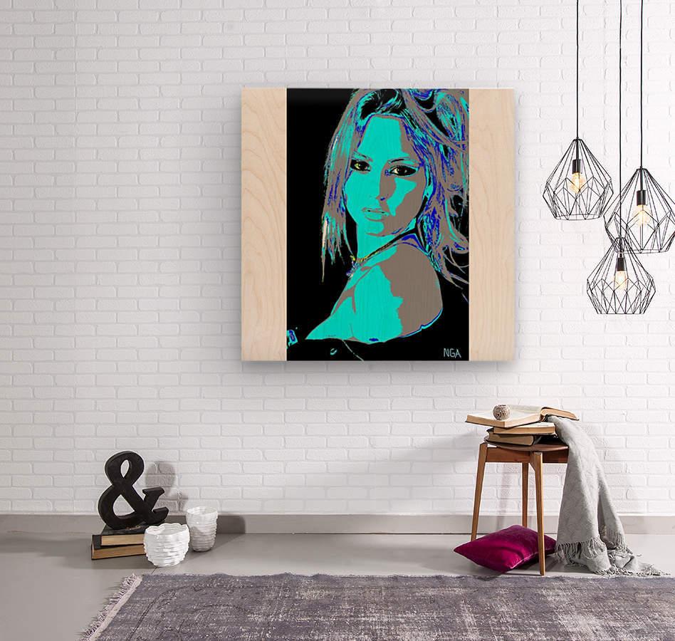A Pretty Girl by neil gairn adams   Wood print