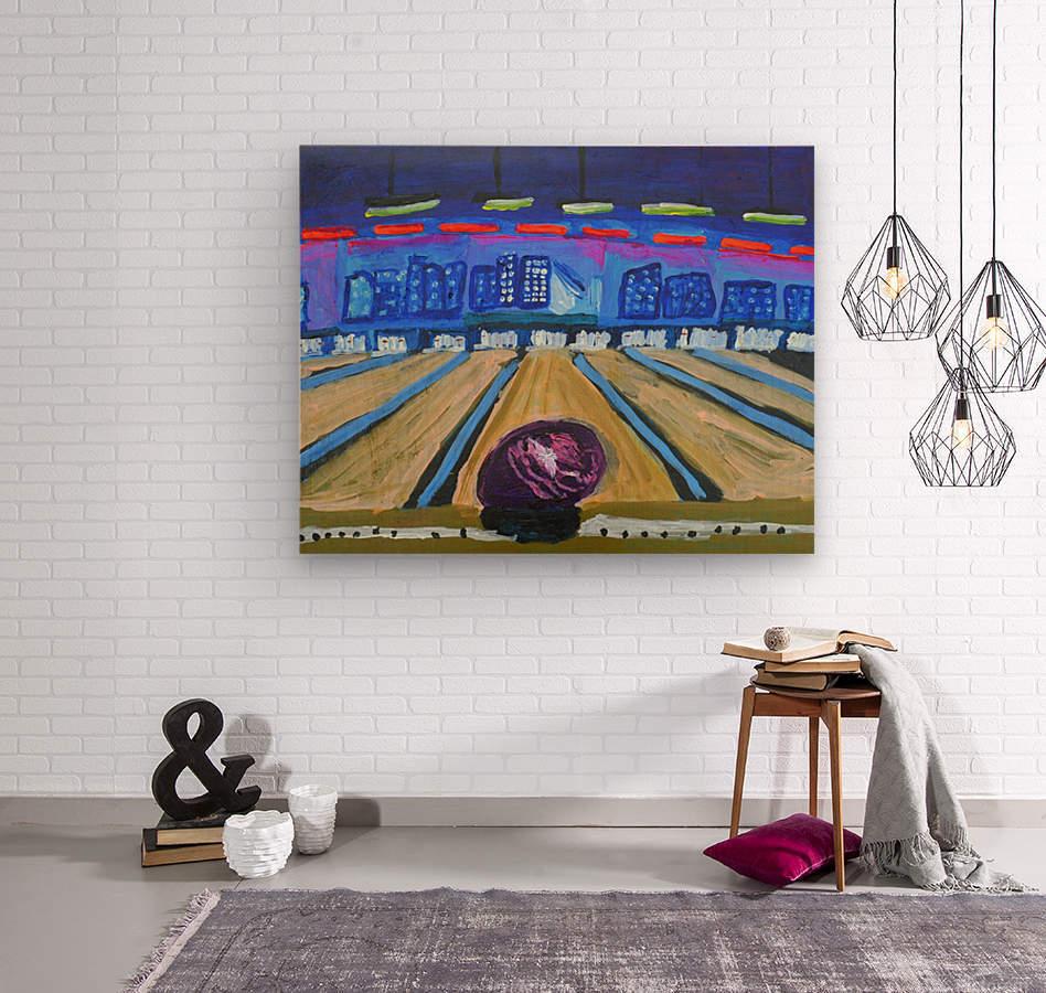Bowling Alley. David K  Wood print