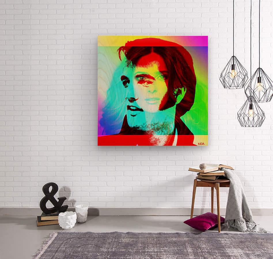 Elvis -Always on my Mind by Neil Gairn Adams  Wood print