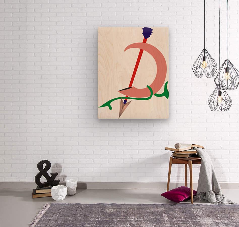 hunting arrow1  Wood print