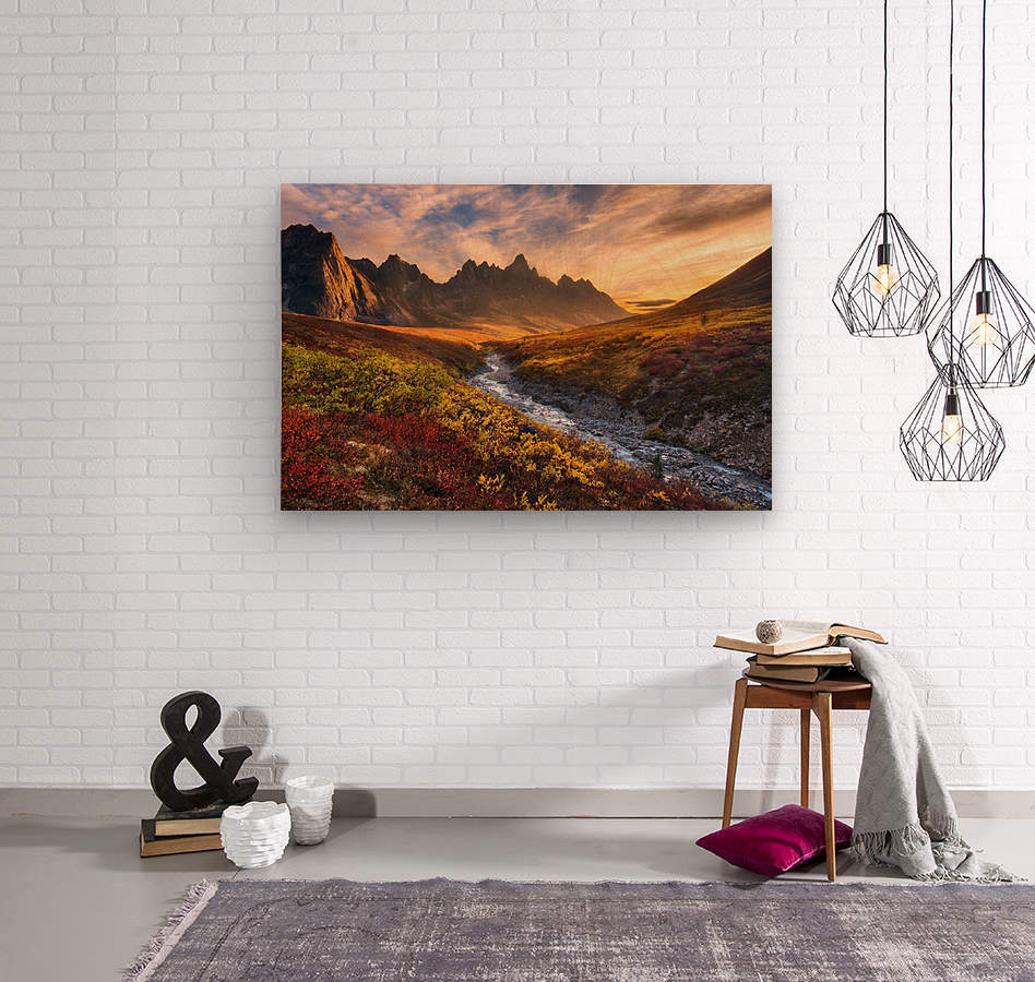Mountain Paradise  Wood print