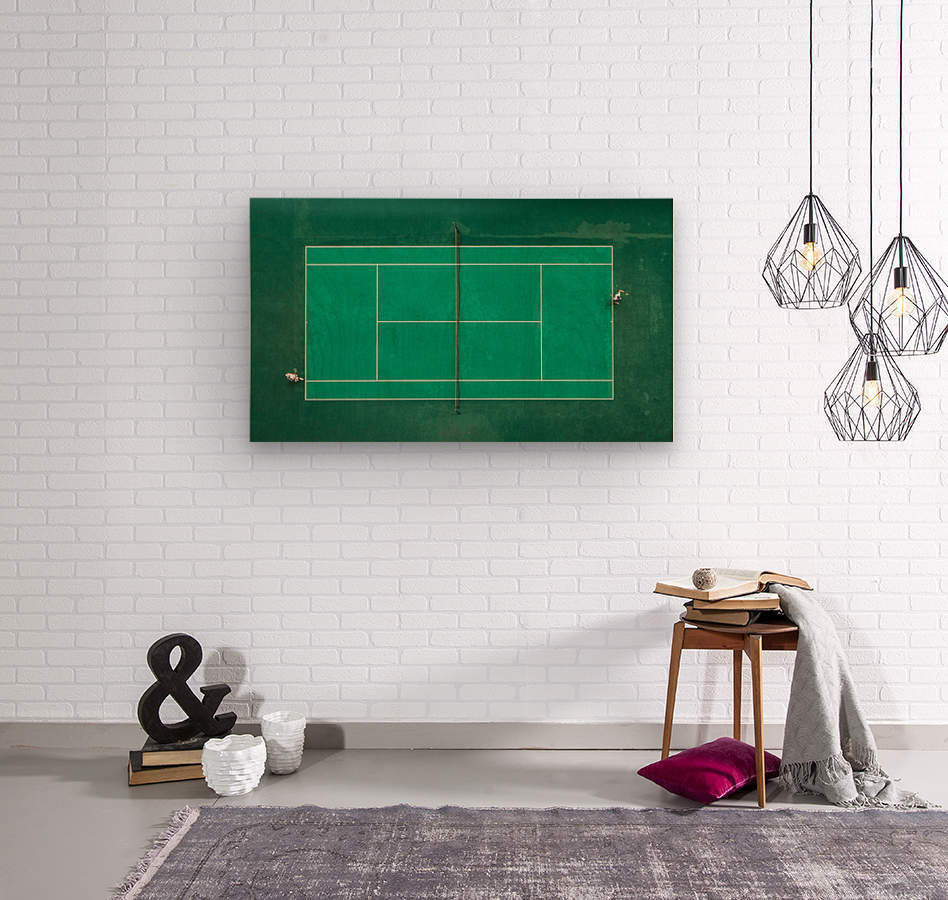 Game Set Match  Wood print