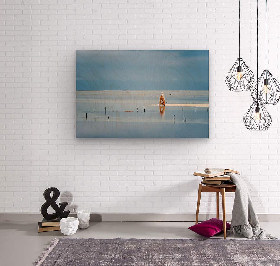 Low tide  Wood print