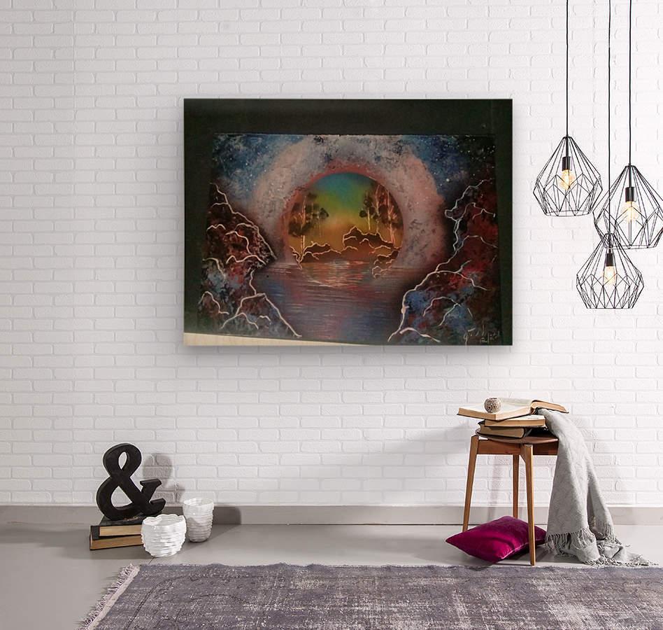 Fantasy World  Wood print