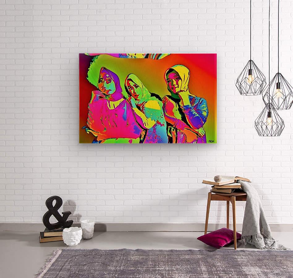 Three Friends - by Neil Gairn Adams  Wood print