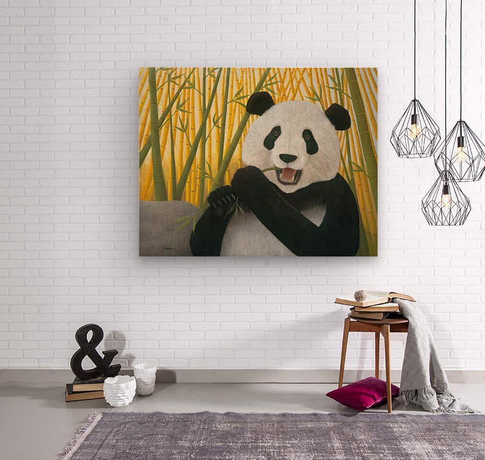 P is for Panda  Wood print