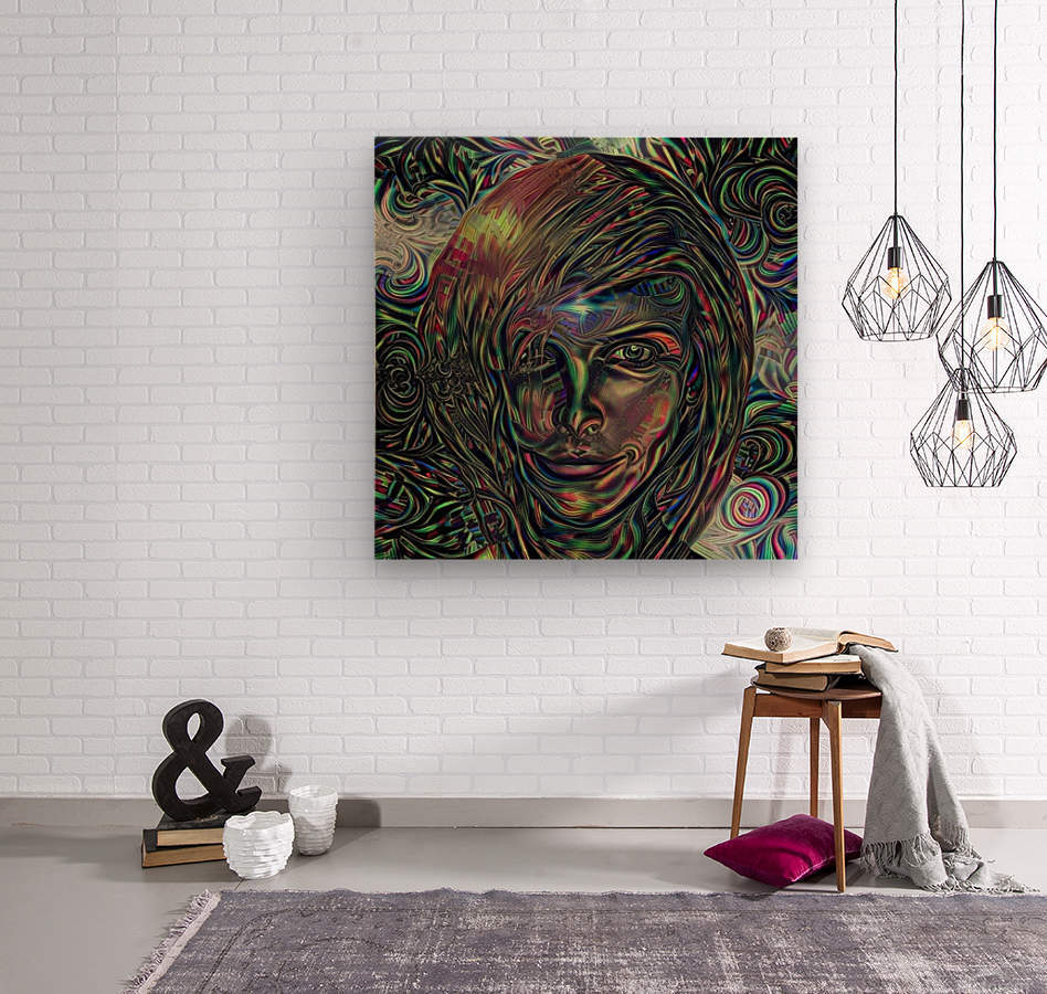 Womans Face  Wood print
