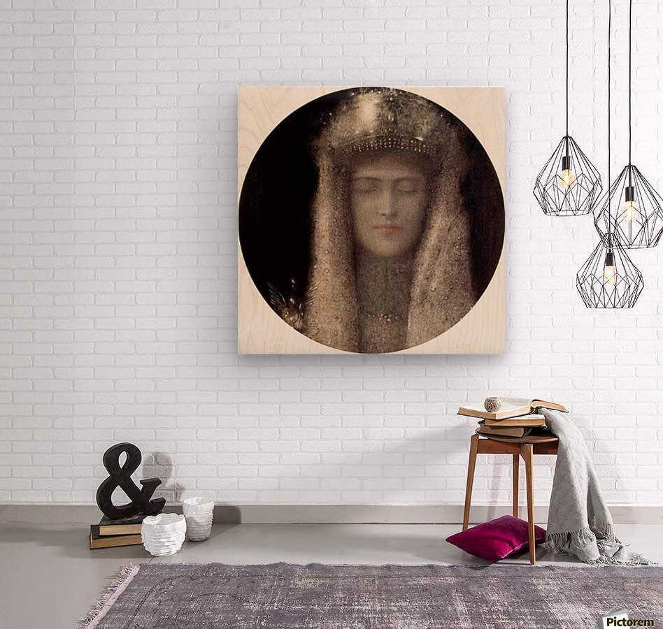Silence by Odilon Redon  Wood print