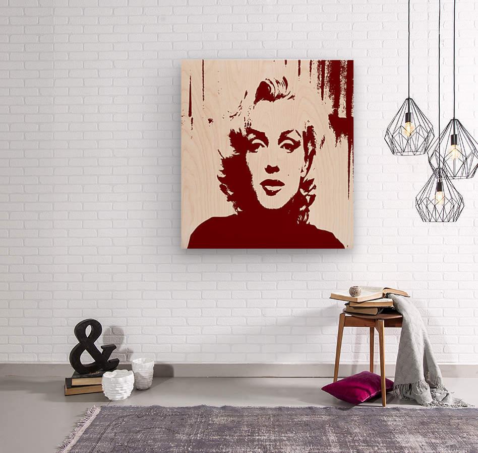Sadness of Marilyn Monroe  Wood print