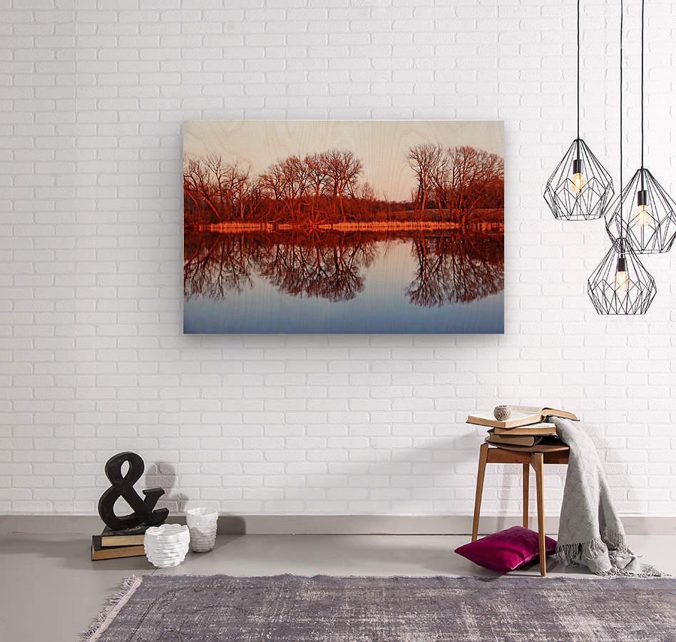 Spring Sunset Glow I  Wood print