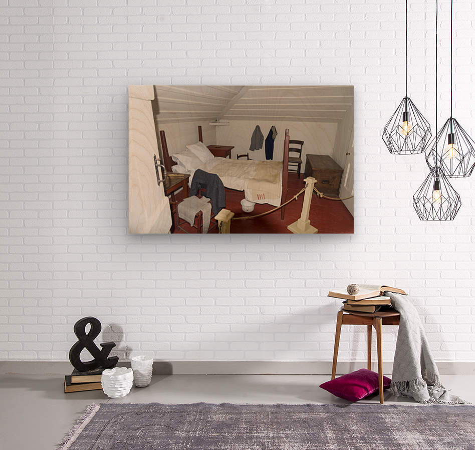 Bedroom in the Lightkeepers House 2  Wood print