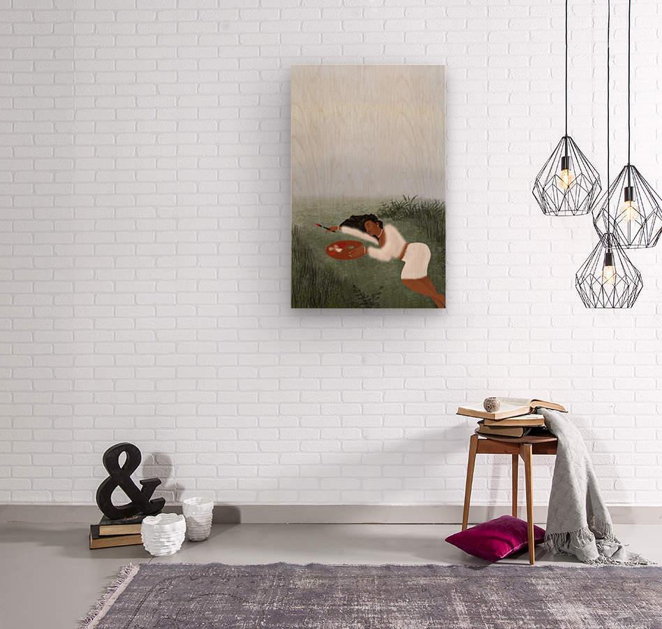 Freedom Painter  Wood print