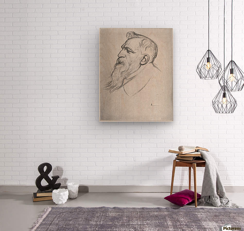 Auguste Rodin  Wood print