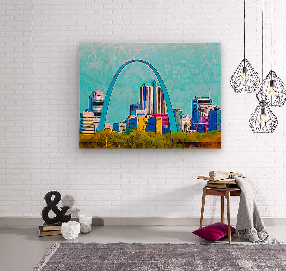 Saint Louis Arch  Wood print