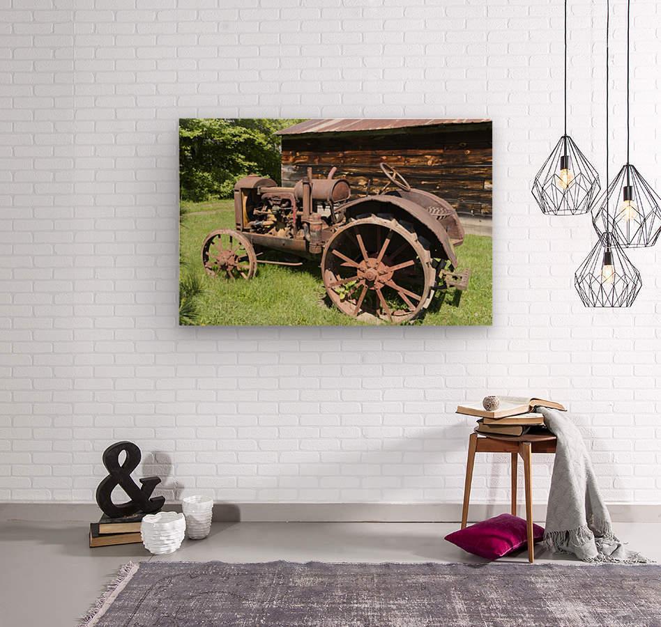 McCormick-Deering gasoline tractor 2  Wood print