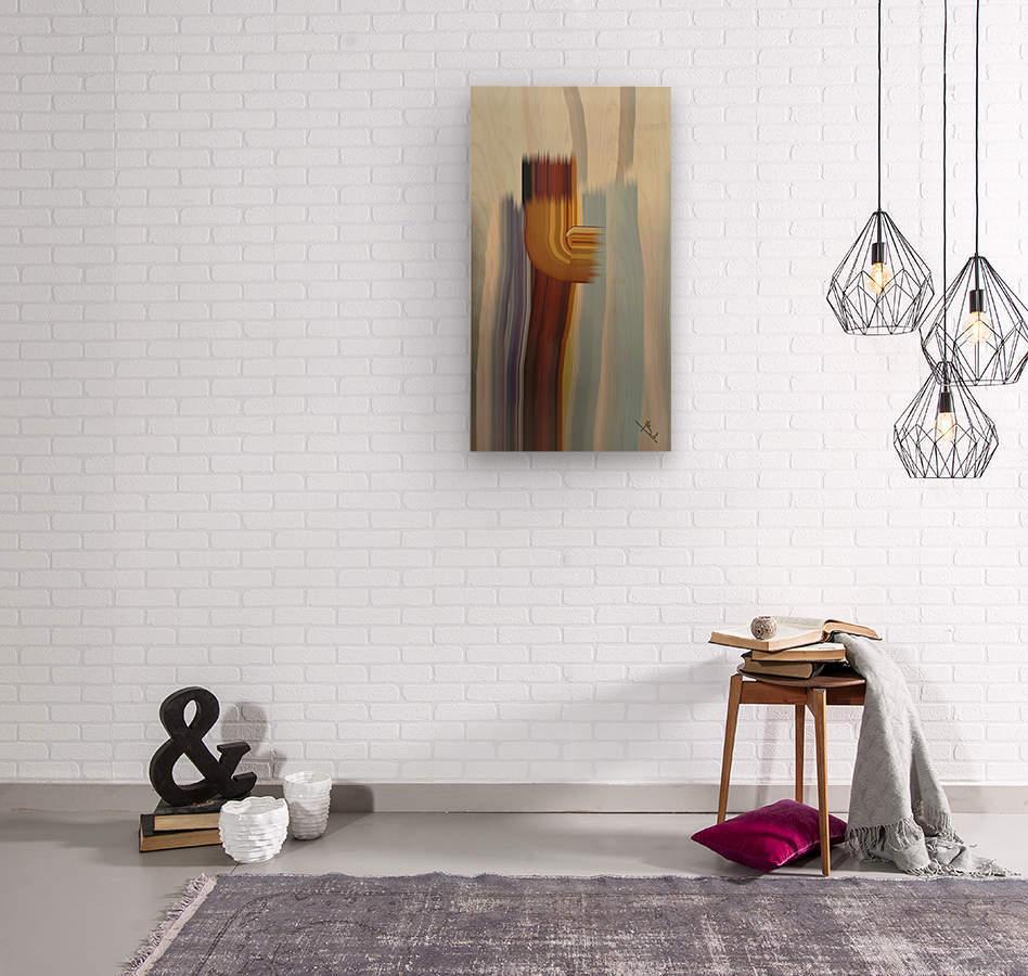 Lone stroke  Wood print