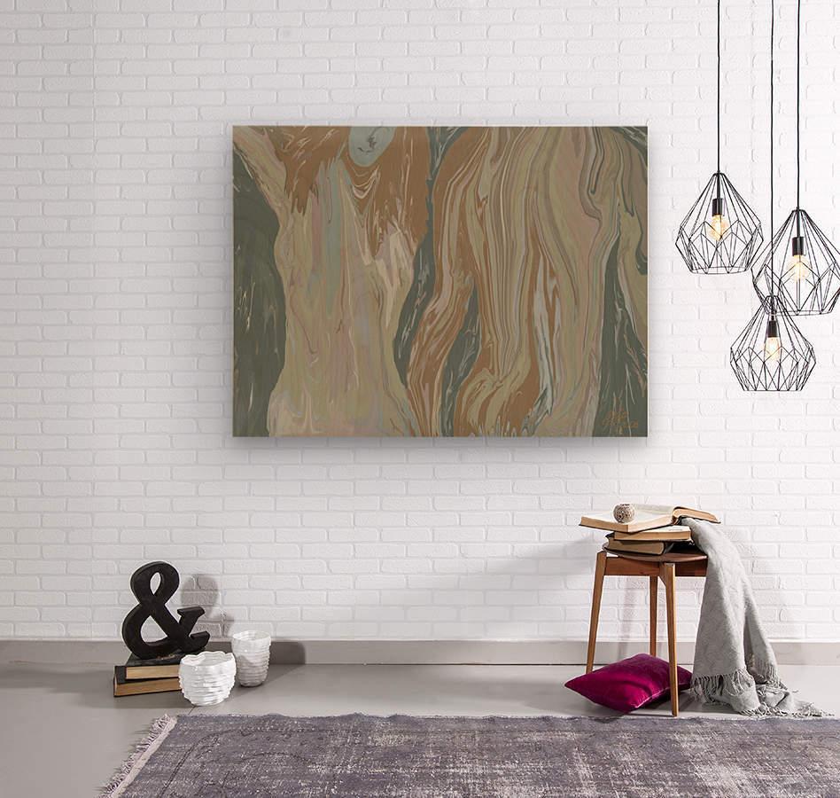 Walk away  Wood print