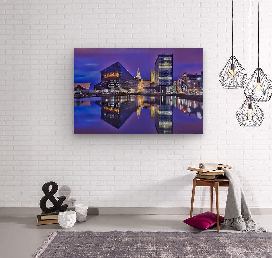LIV 004 Dock Reflections  Wood print