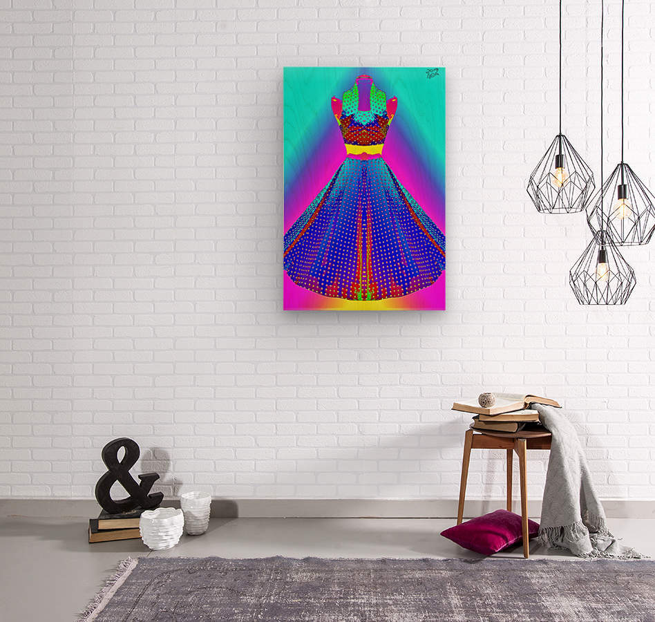 The Dress  -  by Neil Gairn Adams  Wood print
