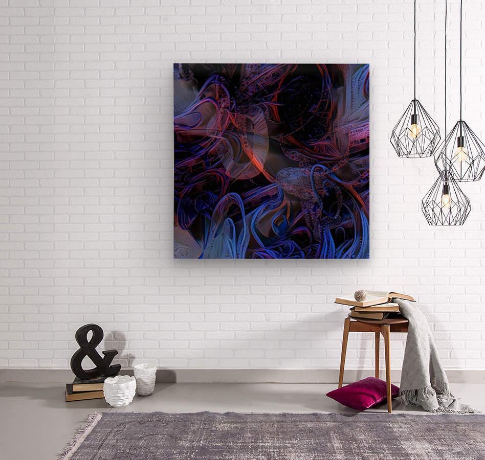 Vivid Magical Abstract  Wood print